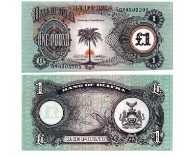 1 фунт 1968 год Биафра