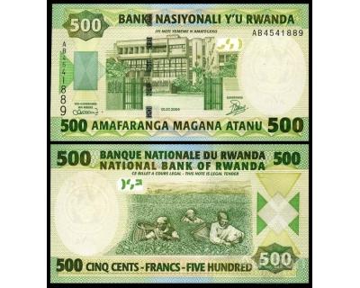 500 франков 2004 год Руанда