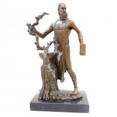 Бронзовая статуэтка Гефест - бог строительства и металлургии. Европа