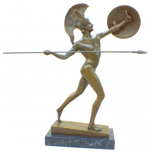 Бронзовая статуэтка Марс - бог войны (с копьём). Европа