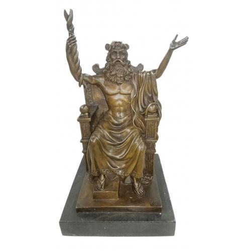 Бронзовая статуэтка Зевс на троне. Европа