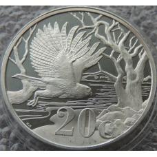 20 Центов 2012 г Сова Южная Африка