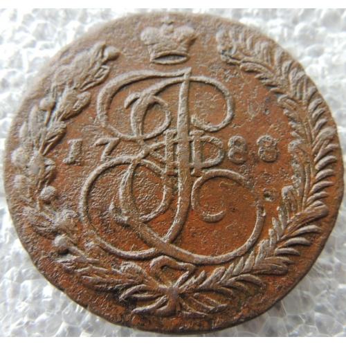 5 Копеек 1788 г ЕМ Орел 1789 г Корона Меньше