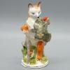 Купить Фарфоровую статуэтку Петушок — золотой гребешок Лиса с петухом