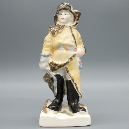 Фарфоровая статуэтка Пастушок