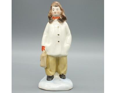 Фарфоровая статуэтка Мальчик с портфелем
