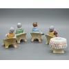 Фарфоровые статуэтки Игра В Покер Дулево (комплект)