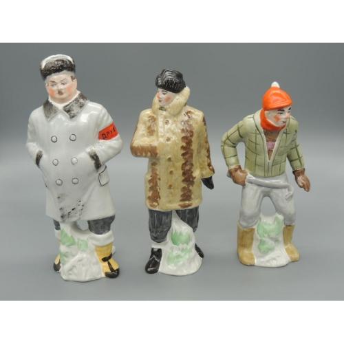 Фарфоровые статуэтки Трус, Балбес и Бывалый (набор)