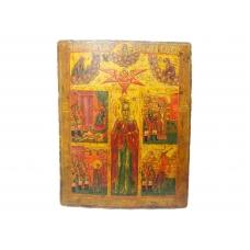 Икона пятичастная Святая Екатерина Великомученица