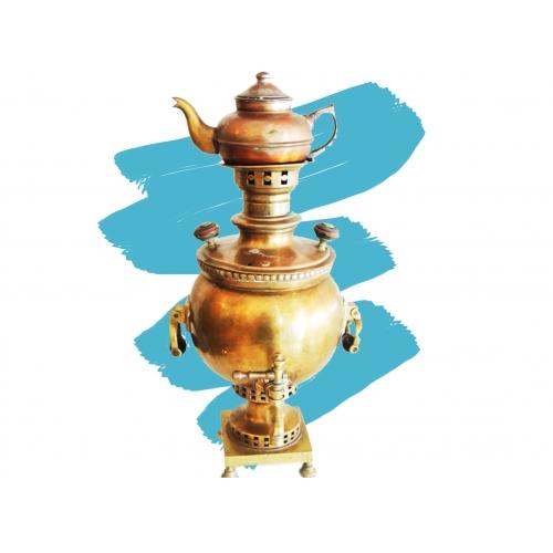 Самовар шар с чайником СССР