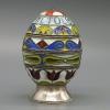 Яйцо пасхальное с эмалями. Серебро. Россия