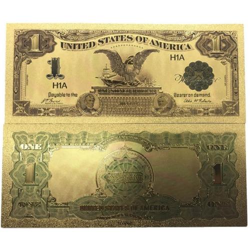 Золотая банкнота Сертификат Серебряный 1 Доллар США