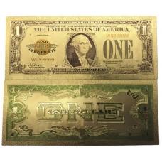 Золотая банкнота Сертификат 1 Доллар США
