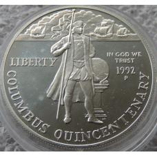 1 Доллар 1992 г Христофор Колумб Америка